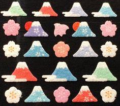 Mount Fuji & Plum Blossoms http://etsy.me/2eH44EF #Japan #etsy #stickers #mtfuji #flowers #craft