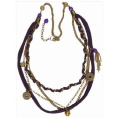 "JousJous Color of Purple Handmade Necklace, Opera Length, 32"" Long (Jewelry)"