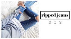 DIY Ripped Knee Jeans | How To : Easy Distressed Denim Tutorial 2015 Today it's time for a DIY Ripped Knee Jeans Tutorial, so you're gonne learn How to easily distress your old pair of skinny jeans, 90's mom jeans, boyfrind jeans, boot cut jeans etc Distressed denim and ripped jeans are a must have for this Summer / Spring 2015 like the ones seen at Asos , American Apparel Zara, H&M, Topshop, River Island , Urban Outfitters etc..