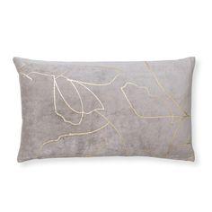 Buy the Gold Floral Outline Cushion at Oliver Bonas. Enjoy free UK standard delivery for orders over £50.