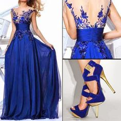 Fashion Is My Attitude - Google+ An elegant blue dress.