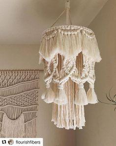 [Eng sub] DIY Macrame Lamp shade / 마크라메 전등갓 – MacrameIdeas Macrame Wall Hanging Diy, Macrame Art, Macrame Knots, Macrame Supplies, Macrame Projects, Deco Addict, Diy Chandelier, Chandeliers, Macrame Design