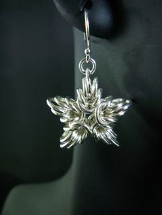 Chainmaille earings -- stars