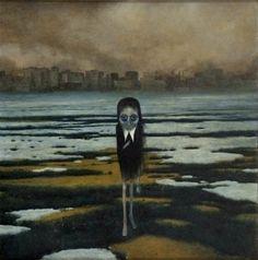 Artwork of Zdzisław Beksiński Arte Horror, Horror Art, Dark Art Drawings, Creepy Art, Dark Fantasy Art, Art For Art Sake, Angst, Surreal Art, Macabre
