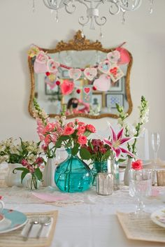 host a Vintage & Feminine Valentine's Day Tea Party for my daughter's friends