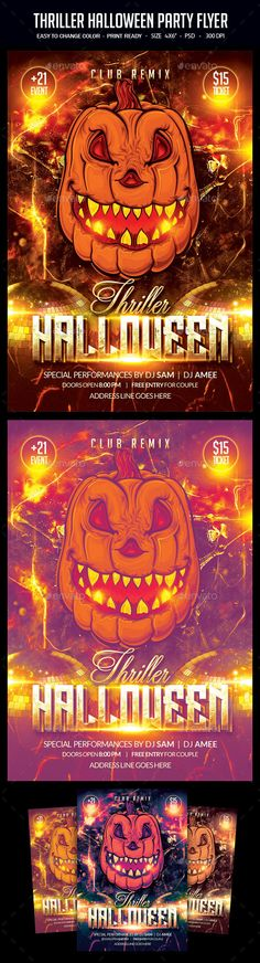 Halloween Party Flyer Template  Flyers Halloween Party Flyer And