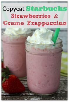 My hubby LOVES anything with strawberries, and especially loves Starbuck's Strawberries and Creme Frappuccino. However…I don't love the price tag, so I knew I had to recreate it at home. This recipe is easy and delicious!