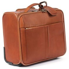 Over Nite Rolling Computer Briefcase - Handcrafted in Colombia and made of top-grain cowhide leather. http://www.theelegantoffice.com/products.php?cat=55Briefcases%20AND%20Luggage-%3E20Rolling%20Bags=detail====2163