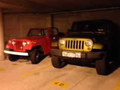 Saw this amazing jeepster and had to get a photo with my JK