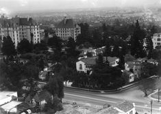 """""""The Garden of Alla,"""":  Russian actress Alla Nazimova built the original mansion, known as """"The Garden of Alla,"""" at 8080 Sunset Boulevard. Soon thereafter, she built a complex of 25 villas around the mansion and changed the complex name to """"Garden of Allah.""""The villa complex, which surrounded the mansion, had the address of 8152 Sunset Boulevard. The Garden of Allah was a popular destination for figures in literary and film circles during in mid 30s to the mid 40s. Demolished in June 1959"""