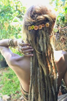 the beauty of dreads Dreadlock Hairstyles, Messy Hairstyles, Pretty Hairstyles, Wedding Hairstyles, Half Dreads, Partial Dreads, Red Dreads, Wool Dreads, Dreadlock Styles
