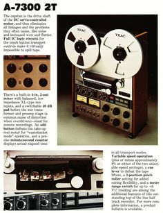 1975 ad for Multitrack Teac reel to reel tape recorders and accessories in Reel2ReelTexas.com's vintage recording collection