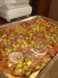 Receita de Receita de Torta expressa de sardinha Aga Recipes, Healthy Recipes, Pasta, Tempura, Antipasto, Empanadas, Carne, Easy Meals, Food And Drink