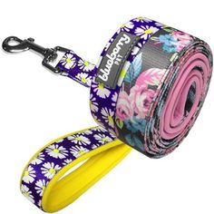 Blueberry Pet Daisy Floral Prints Dog Leash with Neoprene Padded Handle, Matching Collar and Harness Available Separately >>> Check out this great product.