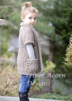 Knitting PATTERN-The Riva Sweater 2/3 4/6 7/9 10/12