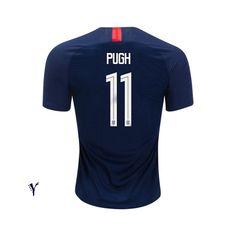 b11ac008369 2018 19 USA Away Mallory Pugh Youth Soccer Jersey Youth Soccer