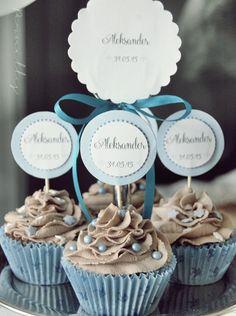Bilderesultat for dåp cupcakes