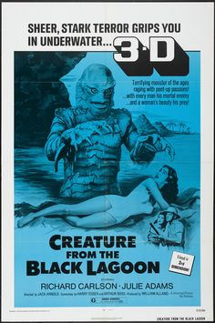 "Creature From the Black Lagoon (Universal International, R-1972). One Sheet (27"" X 41"") 3-D Style."