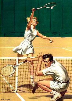 Sarnoff, Arthur (b,1912)- Tennis Return