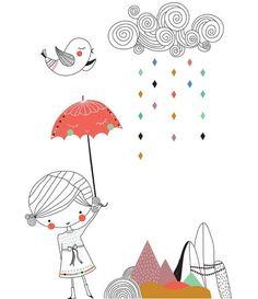 Swantje & Frieda - Stickers Belle Journée - format A3
