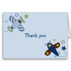 Shop Zoom Along Airplane Aviator Thank You Note Cards created by little_prints. Thank You Note Cards, Custom Thank You Cards, Baby Shower Parties, Smudging, Paper Texture, Aviation, Airplane, Writing, Feelings