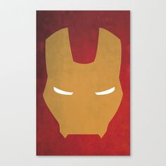 Iron Man Stretched Canvas by Julian Martinez Designs - $85.00 Society6 - gold / red / Marvel / minimalism / abstract / wall art