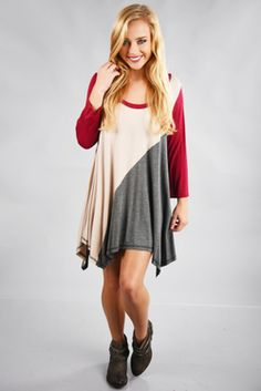 Share to save 10% on  your order instantly!  We Want More Tunic: Gray/Multi