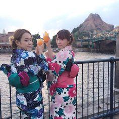 PR】シェイブアイスで乾杯♪ みかん味めっちゃ美味しかった!! #夏5でやってみた  #浴衣で帯マウス  #東京ディズニーシー