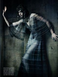 Frida Gustavsson  by Paolo Roversi for Vogue Italia