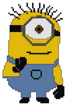 Counted Cross Stitch Pattern Despicable Me Minion by DreamyMemories, $4.25