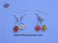 Mini Food Earrings by DeemakTwins on Etsy
