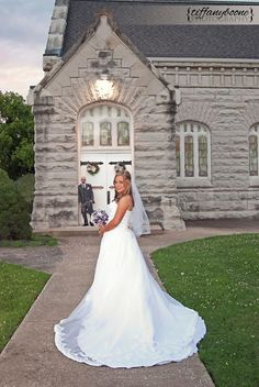 Wedding Photography  Kentucky Bride Groom Church Purple Bouquet Bridal Gown