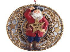 Image detail for -... Western Decor - Western Santa Belt Buck Howdy Ya'll Christmas Ornament www.buffalotraderonline.com