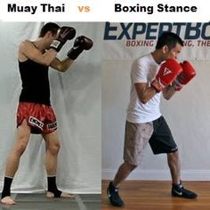 muay thai vs boxing stance