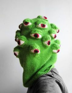 brutal knitting by tracy widdess i must have this as a hood! hahaha immagine the view from the back!