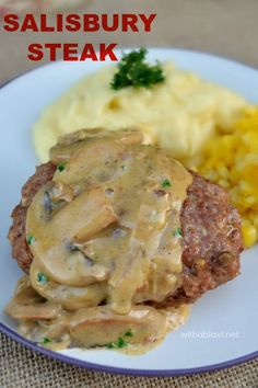 The Mushroom sauce *makes* this Salisbury Steak a wonderful, comfort food - perfect dinner on a cold day