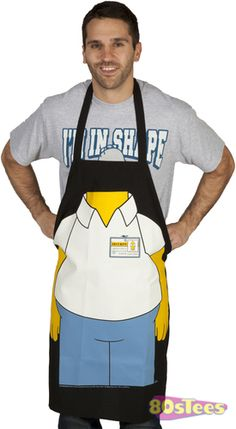 This Homer Simpson apron can make anyone look like the patriarch of the Simpson clan. This apron would be great for outdoor barbecues or indoor kitchen time with the family.