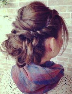 French updo. Love this #messy bun #hair #brunette #desi