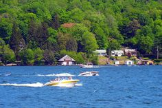 Spend a day out on the baot in Harveys Lake Pennsylvania! The area has plenty of restaurants and pubs for visitors and there's plenty of docks for your boat.