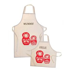 printed personalised apron set by 3 blonde bears | notonthehighstreet.com