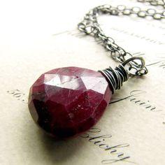 Yummy ruby gemstone necklace!