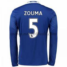 Billige Fotballdrakter Chelsea 2016-17 Zouma 5 Hjemme Draktsett Langermet