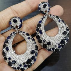 Sapphire Jewelry, Diamond Earrings, Unique Outfits, Jewelries, Cute Jewelry, Girls Best Friend, Deep Blue, Bling Bling, Ham