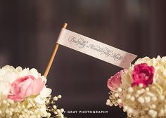 """Custom Printed Party Flags """"Fearfully and Wonderfully Made [from scratch]"""" Baby Shower"""