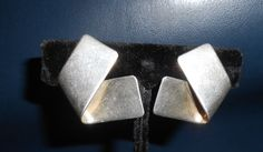 SYB Modernist Vintage Sterling Earrings with by joannan3sterling