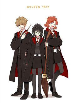 Harry Potter Animé, Harry Draco, Lily Potter, Harry Potter Drawings, Harry Potter Images, Harry Potter Universal, Hogwarts, Mundo Comic, Anime Style