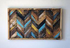 Chevron Wood Wall Art