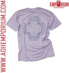 Pattern play all day in the Wisteria Pocket Tee! Grab this light purple luster at AOII Emporium!