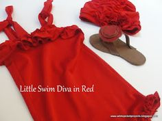 White Picket Projects--baby girl (would work for any size) swimsuit tutorial.  A ruffle boyshort suit that is fashionable and modest.  Also grows with your little one.  This one fits 3 to 24 months.  Crazy.