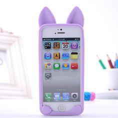 fashion 3d koko cat ear case for Apple iPhone 5 5s SE case luxury pink soft silicone back cover phone shell #>=#>=#>=#>=#> Click on the pin to check out discount price, color, size, shipping, etc. Save and like it!